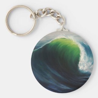 Dream Deep Wave Series Basic Round Button Key Ring