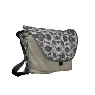Dream Floral in Cream and Gray Commuter Bags