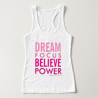 DREAM . FOCUS . BELIEVE . POWER Fitness Tank Top