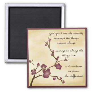Dream Garden Serenity Prayer Magnet