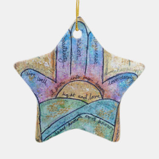 Dream Hamsa Ceramic Ornament