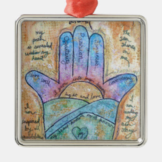 Dream Hamsa Metal Ornament