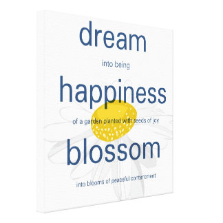 Dream, Happiness, Blossom Gallery Wrap Canvas
