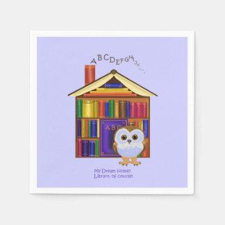 Dream Home – Library! Disposable Napkin
