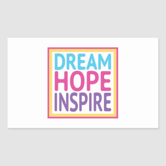 Dream Hope Inspire - Keys to Happiness Rectangular Sticker