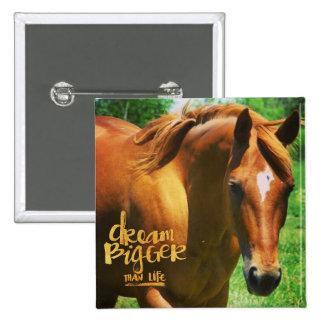Dream Horse 15 Cm Square Badge