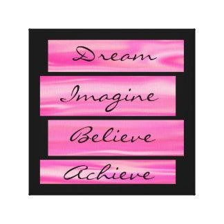 Dream, Imagine, Believe, Achieve Canvas Print