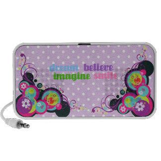 dream imagine believe smile laptop speakers