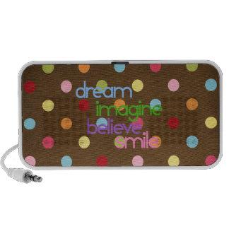 dream imagine believe smile PC speakers