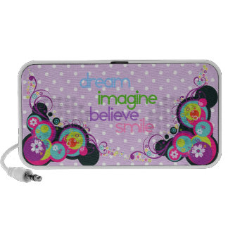 dream imagine believe smile portable speaker