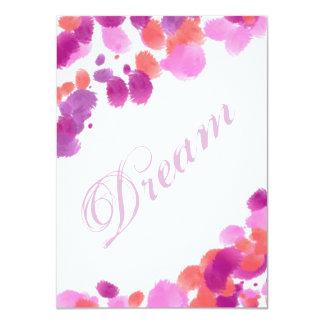Dream Imagine Smash Book Page Scrapbooking Card 11 Cm X 16 Cm Invitation Card