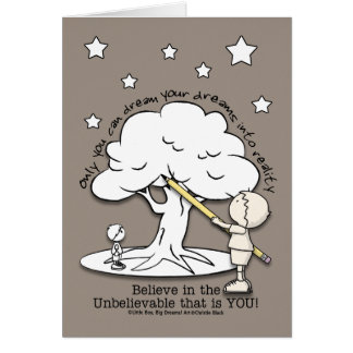Dream Into Reality-Little Boy, Big Dreams Logo Card