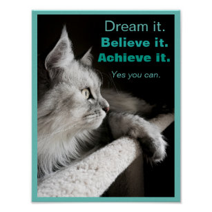 Dream It and Do It Motivational Poster