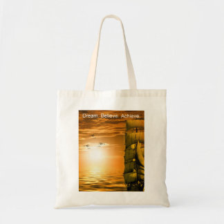 dream it believe it achieve it inspiration tote bag