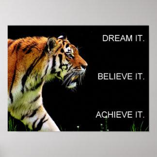 dream it believe it achieve it motivation poster