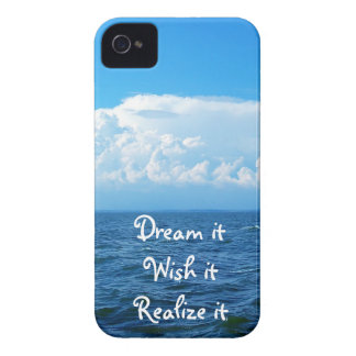 Dream it wish it Realize it quote sea design iPhone 4 Covers
