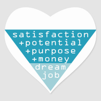dream job formula heart sticker