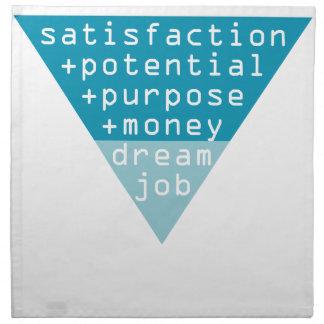 dream job formula napkin