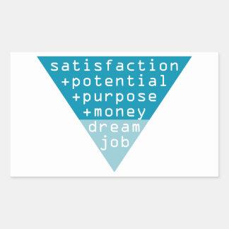 dream job formula rectangular sticker