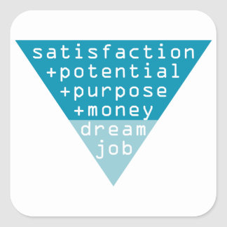 dream job formula square sticker