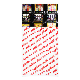 Dream Machines - Lucky Slot Machines Custom Photo Card