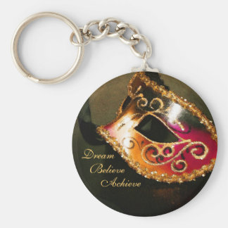Dream Masquerade Mask Inspirational Keychain