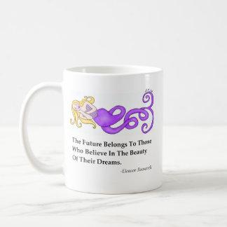 Dream Mermaid Eleanor Roosevelt Quote Basic White Mug
