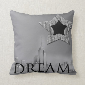 Dream New York City Star Throw Pillow