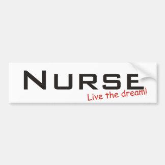 Dream Nurse Bumper Sticker