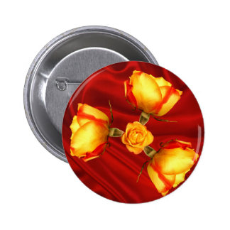 Dream of flowers in red button