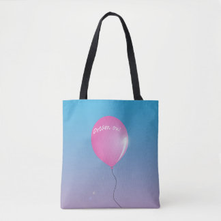 """Dream on"" balloon inspirational Tote Bag"