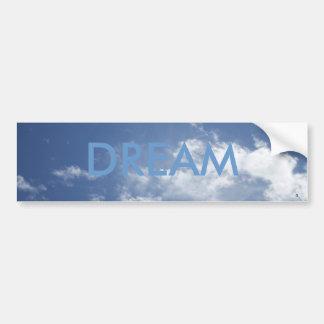 DREAM ON CLOUDS BUMPER STICKER