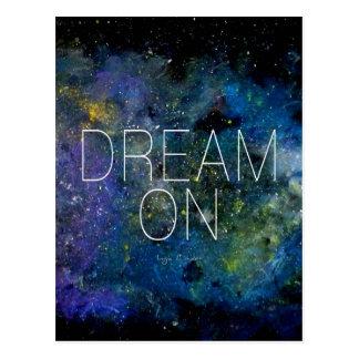 Dream on cosmic quote postcard