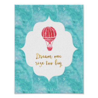 Dream One Size Too Big Poster