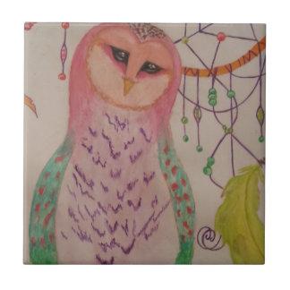 Dream Owl Small Square Tile