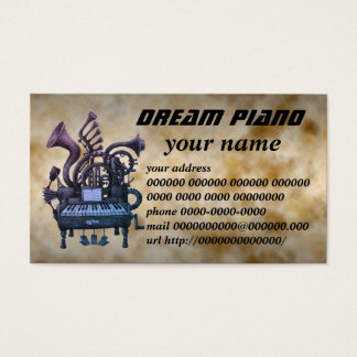 dream piano business card