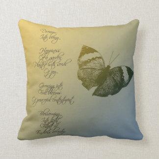 Dream Poem Throw Pillow