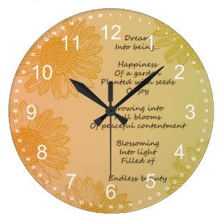 Dream Poem Large Clock