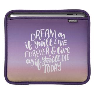 Dream Quote iPad pad Horizontal iPad Sleeve