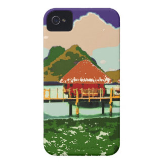 Dream Red Village Cottage iPhone 4 Covers