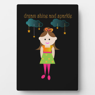dream shine and sparkle plaque with easel