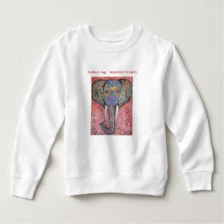 Dream Sparkle Elephant Art Toddler Sweatshirt