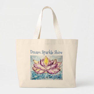 Dream Sparkle Shine Lotus Art Jumbo Tote