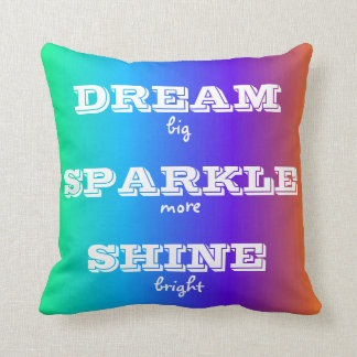 Dream Sparkle Shine Throw Pillow