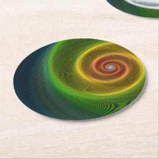 Dream spiral round paper coaster