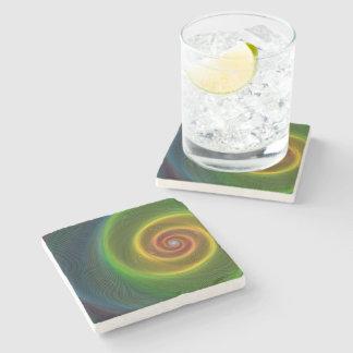 Dream spiral stone beverage coaster