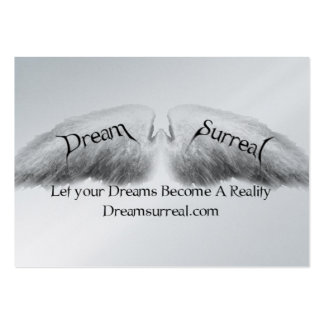 Dream Surreal - White Angel Wings Pack Of Chubby Business Cards