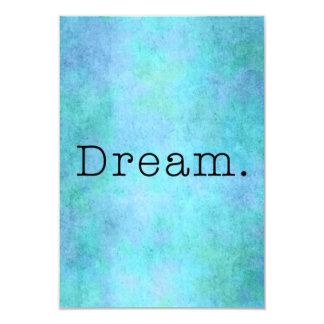 Dream. Teal Blue Aqua Green Seafoam  Purple Dream Card