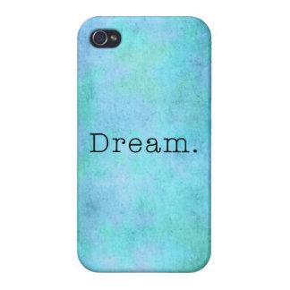 Dream. Teal Blue Aqua Green Seafoam  Purple Dream Cover For iPhone 4