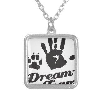 Dream-Team Dog Owner Silver Plated Necklace